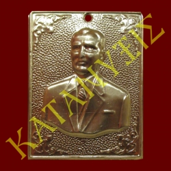 Dedication plaque with engraved man