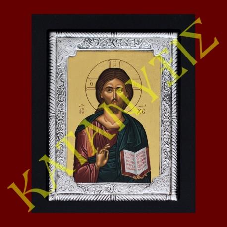 Ιησούς-Χριστός-ασημένια-εικόνα